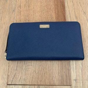 Kate Spade Royal Blue Zip Up Wallet